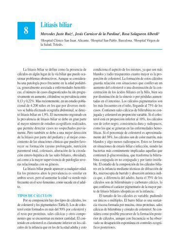 Litiasis biliar - Asociación Española de Pediatría