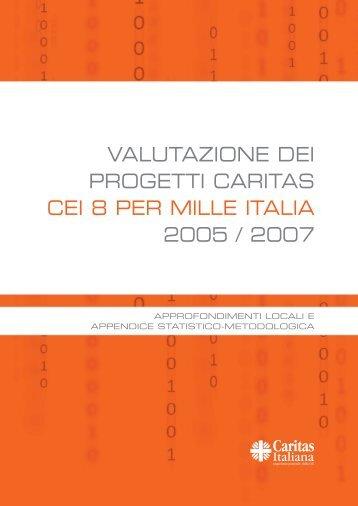 valutazione 8xmille Italia - Caritas Italiana
