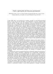 don Giuseppe Bellia - Spiritualita' diaconale - Diaconi di napoli!