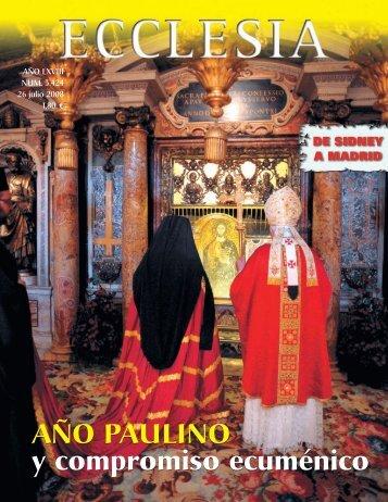 Año Paulino y compromiso ecuménico