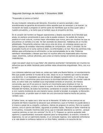 Segundo Domingo de Adviento 7 Diciembre 2008 - Homiletica.org