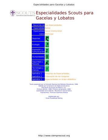 Especialidades Scouts para Gacelas y Lobatos
