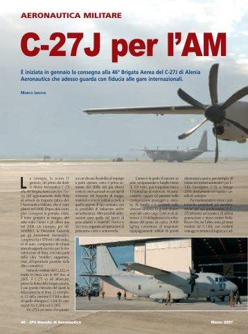 C-27J per l'AM - Congedati Folgore