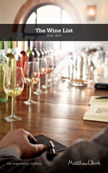 Download the wine list - Matthew Clark