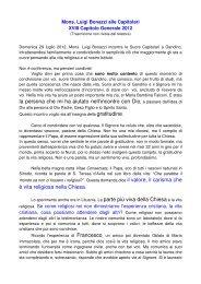 La parola a Mons. Luigi Bonazzi - Suore Orsoline di Gandino