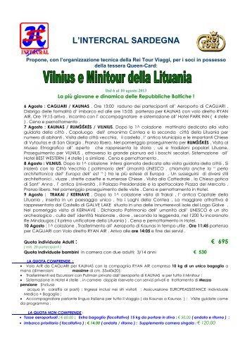Vilnius e minitour della Lituania - I blog di Unica