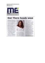 Publication: Mobile Entertainment Date: 27.05.09 ... - Out There Media