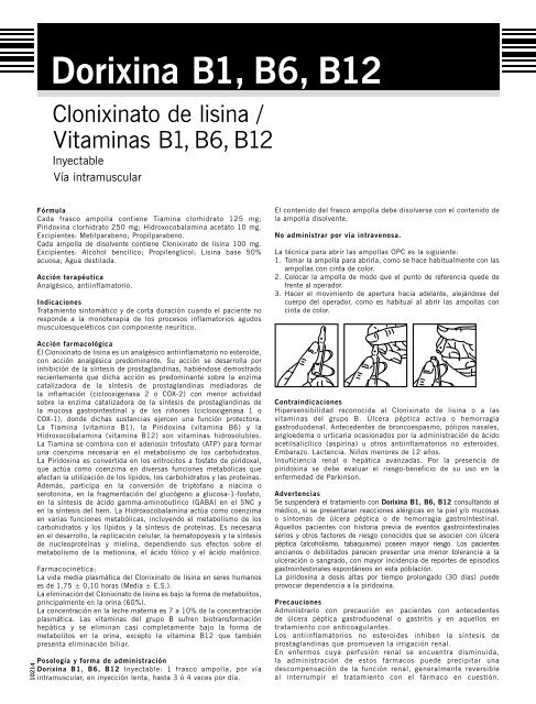 B1 inyectable b12 vitamina b6