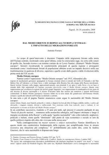l'impatto delle migrazioni forzate - Società Italiana per lo Studio della ...