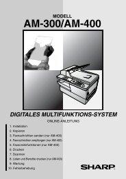 AM-300/400 Operation-Manual Online-Guide DE - Sharp Electronics