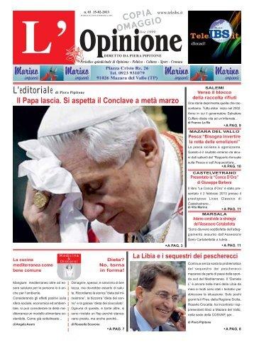 L'Opinione n°3 del 15-02-2013 - teleIBS