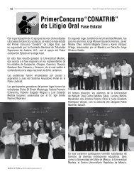 "Primer Concurso ""CONATRIB"" de Litigio Oral Fase Estatal"
