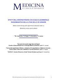 Effetti dell'idropinoterapia con acqua oligominerale radioemanativa ...