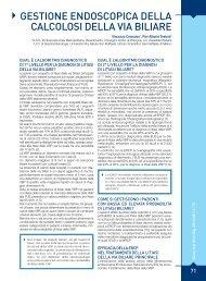 gestione endoscopica della calcolosi della via biliare - Sied