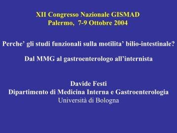 Bilio-intestinal motility - Gismad