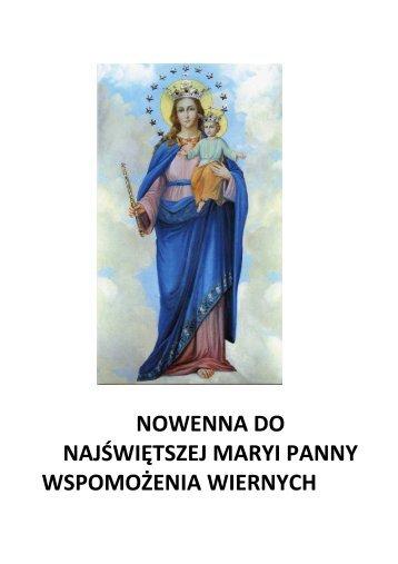 Pobierz tekst nowenny do Wspomożycielki Wiernych - Matki Bożej ...