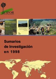 Sumarios de investigacion en 1998 =CIFOR Research Abstracts 1998