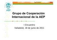Presentación del Grupo - Asociación Española de Pediatría