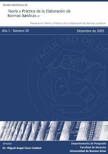 Año I - Número III - Diciembre 2005 - Facultad de Derecho ...