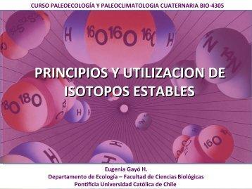 PRINCIPIOS Y UTILIZACION DE ISOTOPOS ESTABLES