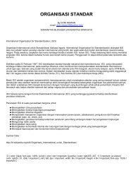 organisasi standar - Komunitas Blogger Unsri - Universitas Sriwijaya