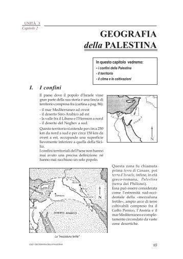 GEOGRAFIA della PALESTINA - Didaskaleion