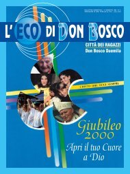 2° semestre 1999 – n° 2 - Opera Don Bosco