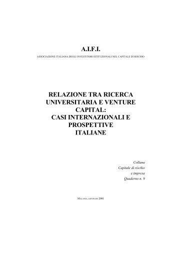 Relazione tra ricerca universitaria e venture capital - Aifi