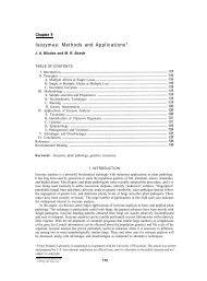 Isozymes: Methods and Applications - Forest Products Laboratory