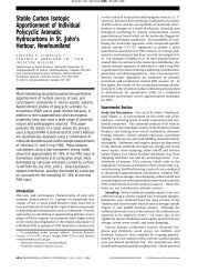 Stable Carbon Isotopic Apportionment of Individual Polycyclic ...