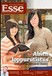 Esse 11/2013 (pdf) - Espoon seurakuntasanomat