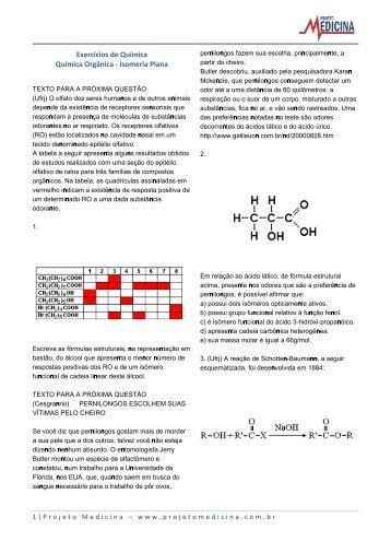 Isomeria Plana - Projeto Medicina