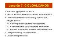 Lección 7: CICLOALCANOS - Personal.us.es