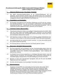 Grundausschreibung für ADAC Automobil-Clubsport-Slalom
