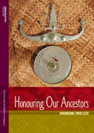 Honouring our Ancestors: Remembering Timor ... - Museum Victoria
