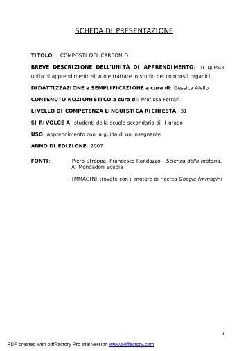 I Composti del Carbonio.pdf - Italiano per lo studio
