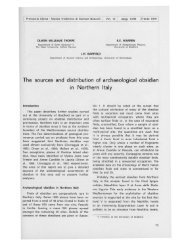 The sources and distribution of archaeological obsidian - Museo ...