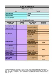 Reis de Israel e Judá, Tabela - Teologia Ocidental