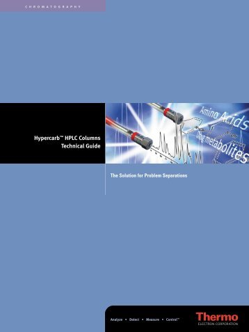 Hypercarb™ HPLC Columns Technical Guide - Interscience