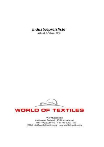 Preise Sports-Katalog - World of Textiles
