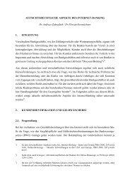 AUFSICHTSRECHTLICHE ASPEKTE DES INTERNET-BANKING Dr ...