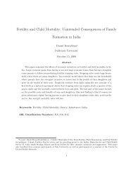 Fertility and Child Mortality: Unintended ... - Tufts University