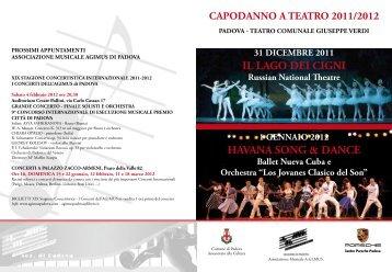 informazioni generali balletti Capodanno 2011 ... - agimus padova