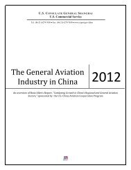 The General Aviation Industry in China 2012 - Export.gov