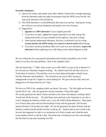Executive Summary - Alpine Coach Association