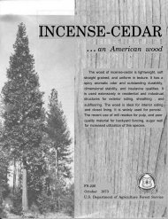 INCENSE-CEDAR - Forest Products Laboratory - USDA Forest Service