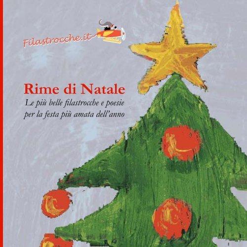 Poesie Di Natale In Rima.Rime Di Natale Filastrocche
