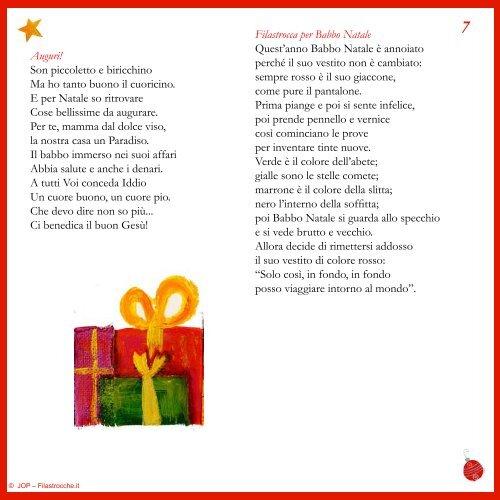 Babbo Natale Questanno Verra Filastrocca.La Povera Culla La Notte