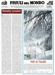 FRIUU NEL MON: ! - Ente Friuli nel Mondo