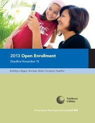 2013 Open Enrollment - NStar